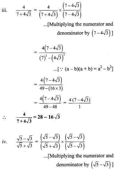 Maharashtra Board Class 9 Maths Solutions Chapter 2 Real Numbers Practice Set 2.4 6