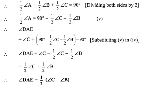 Maharashtra Board Class 9 Maths Solutions Chapter 3 Triangles Problem Set 3 12