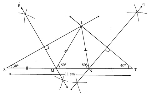 Maharashtra Board Class 9 Maths Solutions Chapter 4 Constructions of Triangles Practice Set 4.3 6