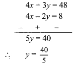 Maharashtra Board Class 9 Maths Solutions Chapter 5 Linear Equations in Two Variables Problem Set 5 6